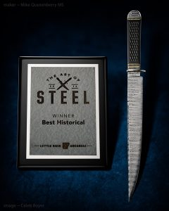 Mike Quesenberry - Samuel Bell inspired bowie - best historical knife award winner